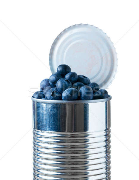 Blueberries bursting out of tin can Stock photo © backyardproductions
