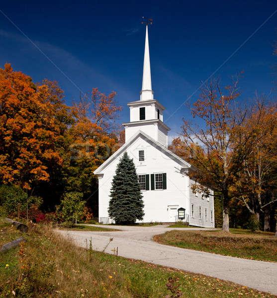 Vermont igreja cair tiro típico Foto stock © backyardproductions