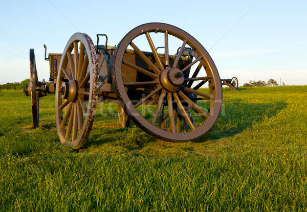 Cart on Manassas Battlefield Stock photo © backyardproductions
