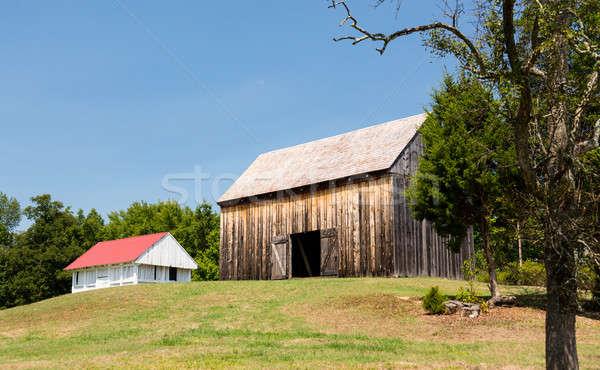 Kő ház Maryland történelmi helyszín otthon Stock fotó © backyardproductions