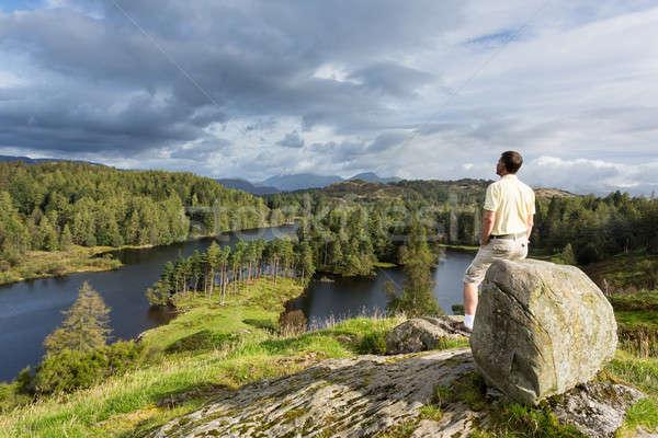 View english lake district senior escursionista Foto d'archivio © backyardproductions