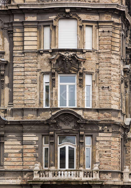 Old damaged house in Budapest Stock photo © backyardproductions