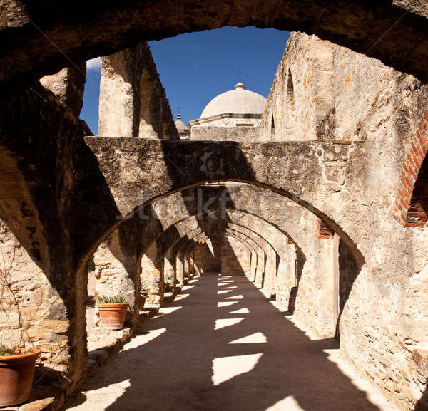 Arches of San Jan Mission near San Antonio Stock photo © backyardproductions