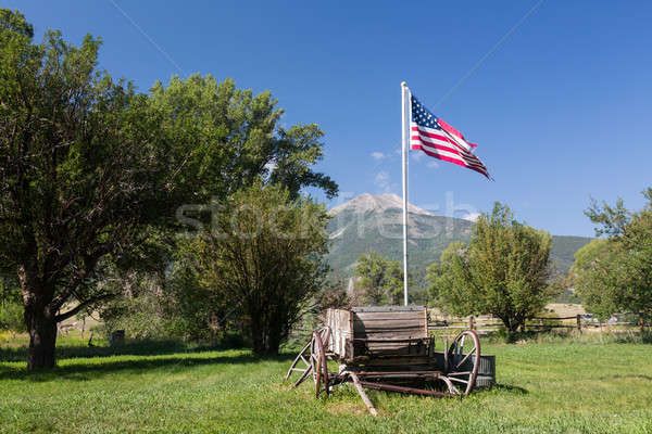 Farmyard and cart by Mt Princeton CO Stock photo © backyardproductions