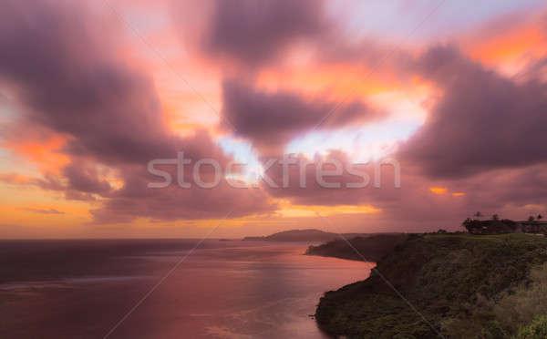 Sunrise to Kilauea Lighthouse in Kauai Stock photo © backyardproductions