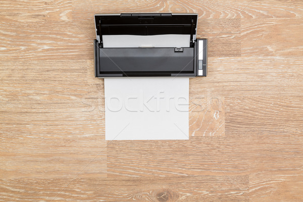 Held afbeelding ordelijk desktop scanner Stockfoto © backyardproductions