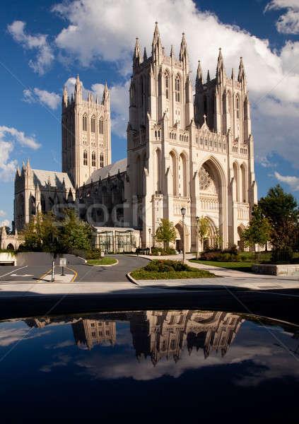 Reflection of Washington Cathedral Stock photo © backyardproductions