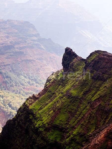 ストックフォト: 表示 · ダウン · 峡谷 · ハワイ · 早朝 · 太陽