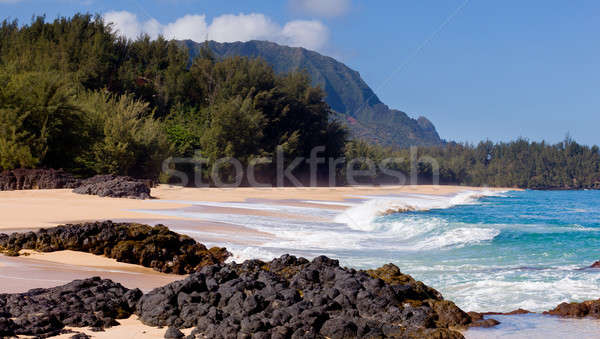 Stock photo: Lumahai beach in Kauai