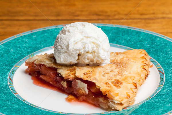 Home made apple and strawberry pie ice cream Stock photo © backyardproductions