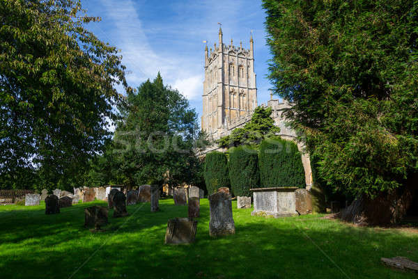 Stock photo: Church and graveyard in Chipping Campden