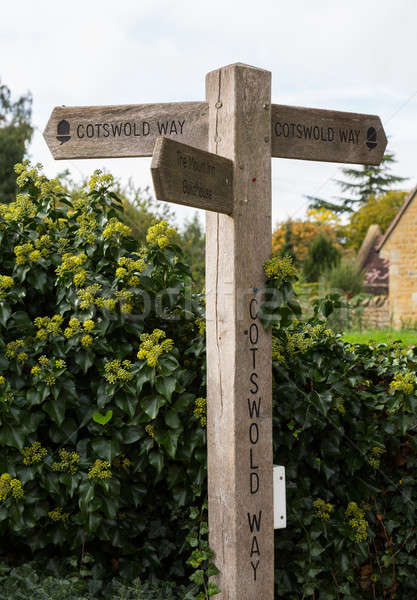 Cotswold Way signpost in Cotswolds  Stock photo © backyardproductions
