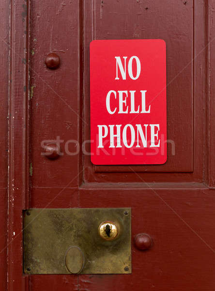 Red sign for no cell phone usage Stock photo © backyardproductions
