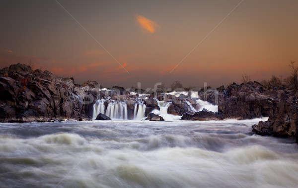 Great Falls at dusk Stock photo © backyardproductions