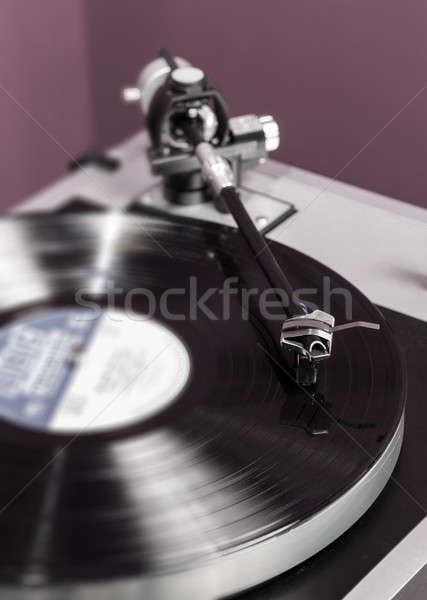 Vinil análogo toca disco cartucho lp longo Foto stock © backyardproductions