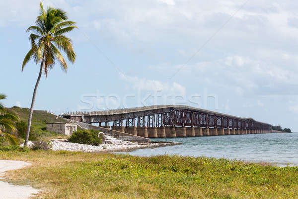 Florida Keys rail bridge and heritage trail Stock photo © backyardproductions