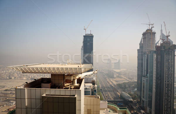 Cityscape Dubai şehir gökdelen bloklar sokak Stok fotoğraf © backyardproductions