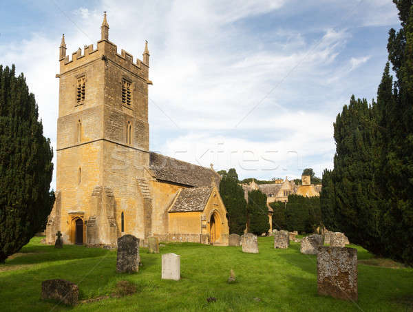 Stanway House and St Peters Church Stanton Stock photo © backyardproductions