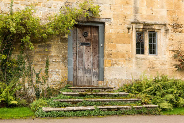 Old houses in Cotswold district of England Stock photo © backyardproductions