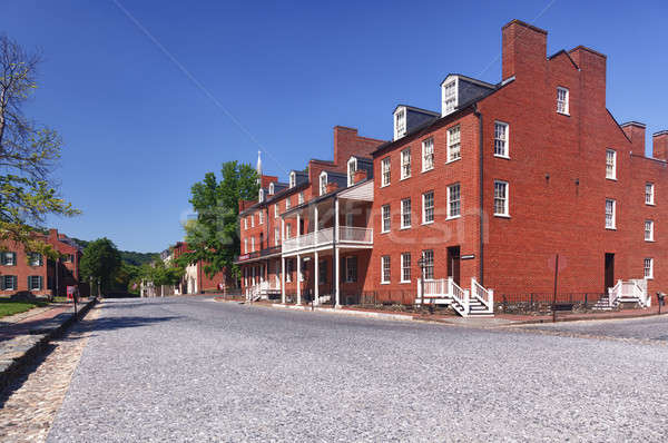 Main street of Harpers Ferry a national park Stock photo © backyardproductions