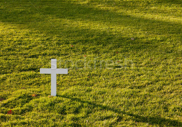 Shadow cast by cross for Robert Kennedy Stock photo © backyardproductions