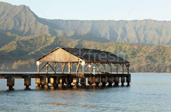 Sunrise in Hanalei Bay Kauai Stock photo © backyardproductions