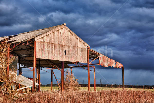 Deserted barn in storm Stock photo © backyardproductions
