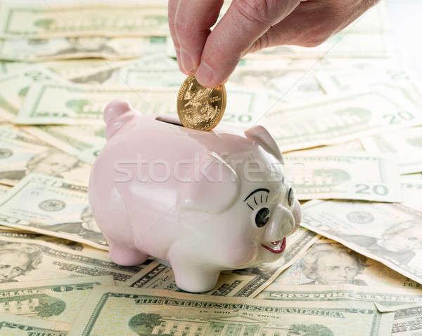 手 金貨 貯金 指 スロット 20 ストックフォト © backyardproductions