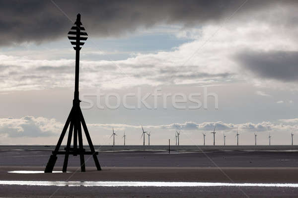 Wind turbines in Mersey Stock photo © backyardproductions