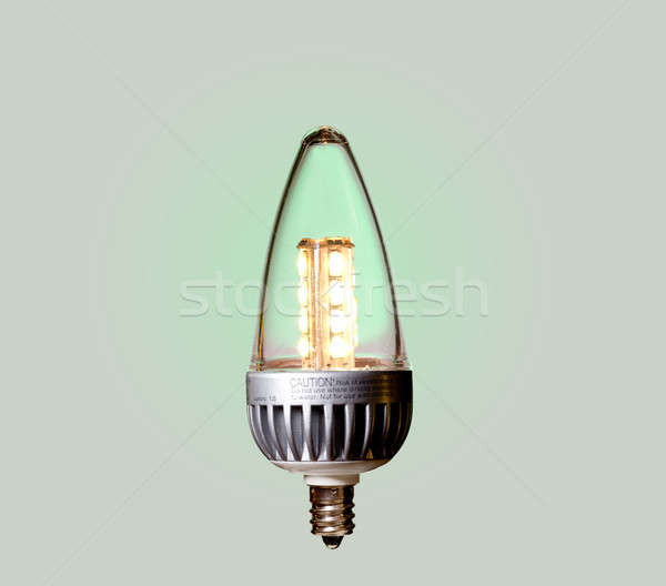 Green ecological LED bulb with path Stock photo © backyardproductions