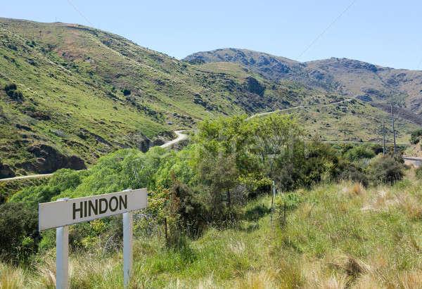Stock photo: Railway up Taieri Gorge New Zealand