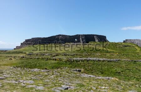Stone wall at Dun Aonghasa Aran Islands Stock photo © backyardproductions