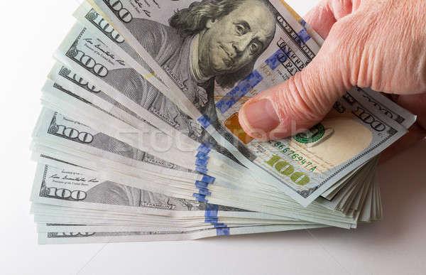 New design 100 dollar US bills or notes Stock photo © backyardproductions