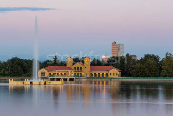 Сток-фото: город · парка · озеро · фонтан · Колорадо