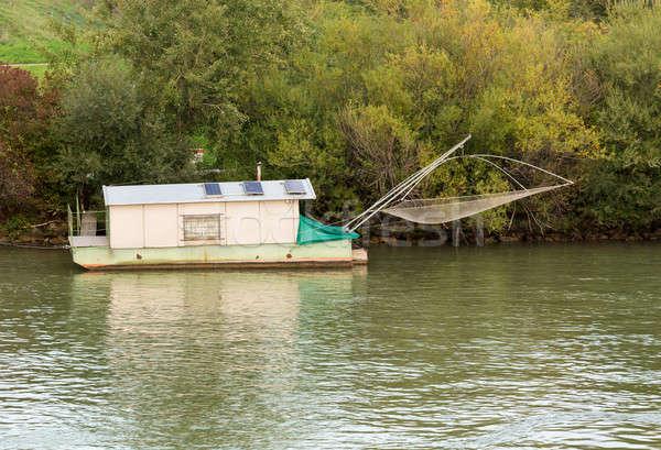 Usado molho pescaria rio danúbio pequeno Foto stock © backyardproductions