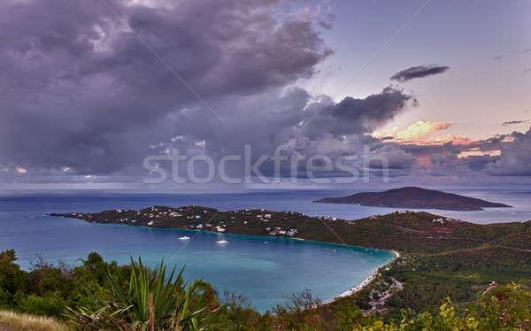 мнение Мир известный пляж Виргинские о-ва закат Сток-фото © backyardproductions