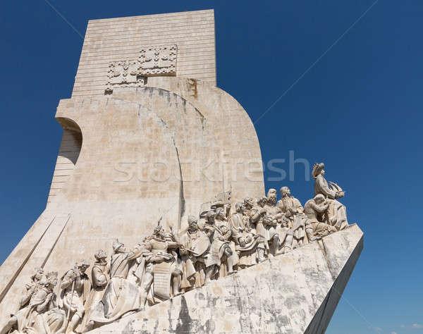 Monument to Discoveries Belem Lisbon Stock photo © backyardproductions