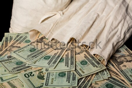 Praying statue with cash background Stock photo © backyardproductions