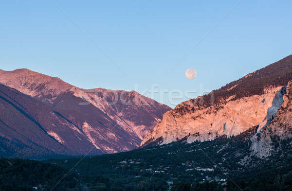 Craie Colorado vallée blanche lune Photo stock © backyardproductions