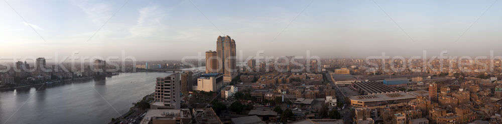 Panorama across Cairo skyline Stock photo © backyardproductions