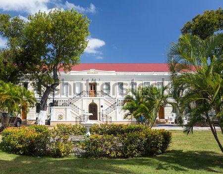 Virgin Islands entree huis stad trap Stockfoto © backyardproductions