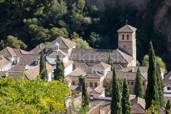 View of old church in Granada  in Spain Stock photo © backyardproductions