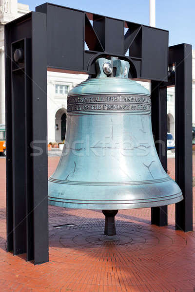 Replica freedom bell in front of Union Station Stock photo © backyardproductions