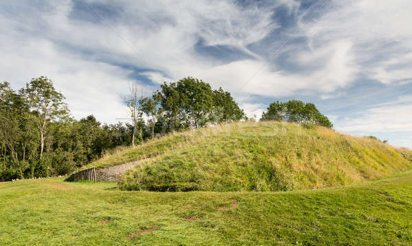 Belas Nap barrow on Cleeve Hill Cotswolds Stock photo © backyardproductions