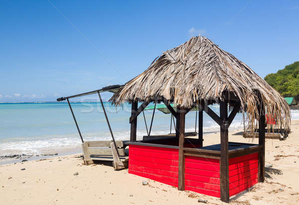 Bar on beach covered in sand after storm Stock photo © backyardproductions