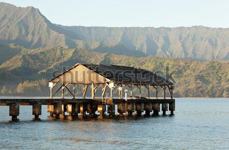 Sunrise over Hanalei Bay Kauai Hawaii Stock photo © backyardproductions