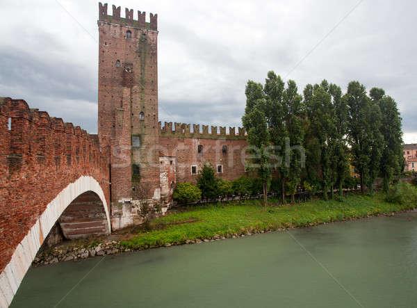 Castel Vecchio bridge Stock photo © backyardproductions