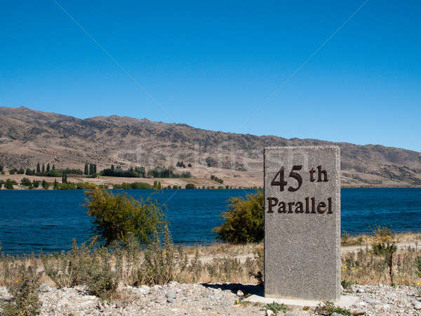 45th parallel in New Zealand Stock photo © backyardproductions