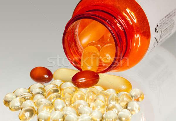 Macro cápsulas rx botella Foto stock © backyardproductions