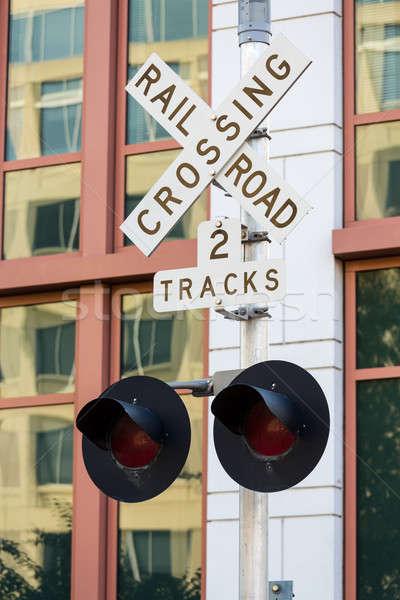 Ferrovia assinar Washington DC novo escritórios departamento Foto stock © backyardproductions
